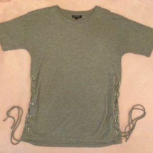 Top shop grey t shirt m